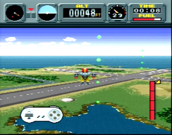 Pilotwings - 4 Megabit, DSP (helper) in Cartridge - SNES - 1991
