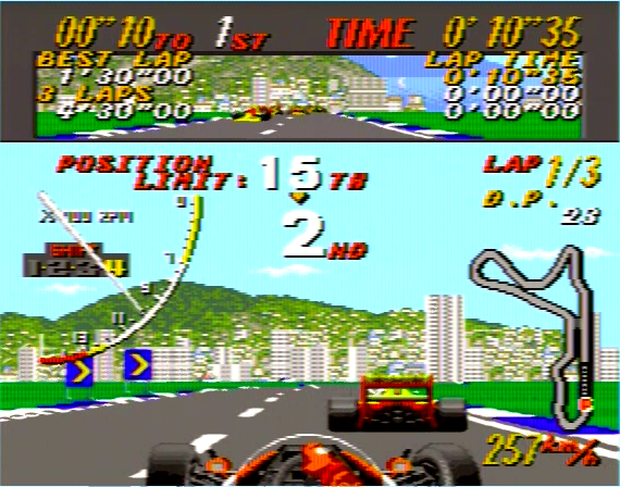 Super Monaco GP - 4 Megabit - Genesis - 1990