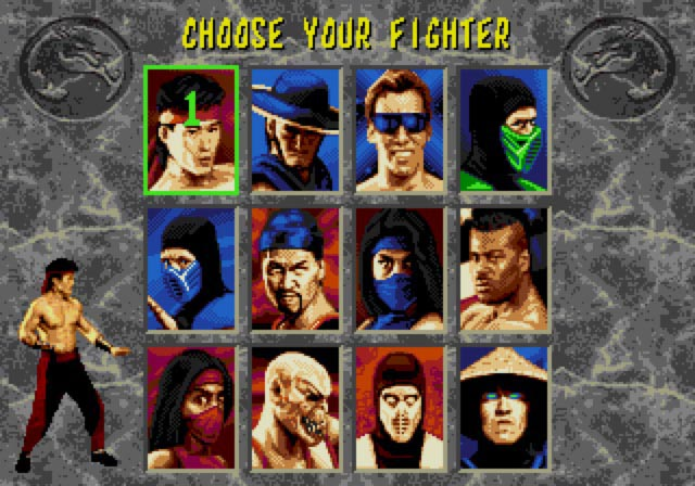 Character Select - Genesis Emulation
