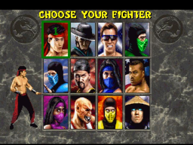 Character Select - SNES Emulation