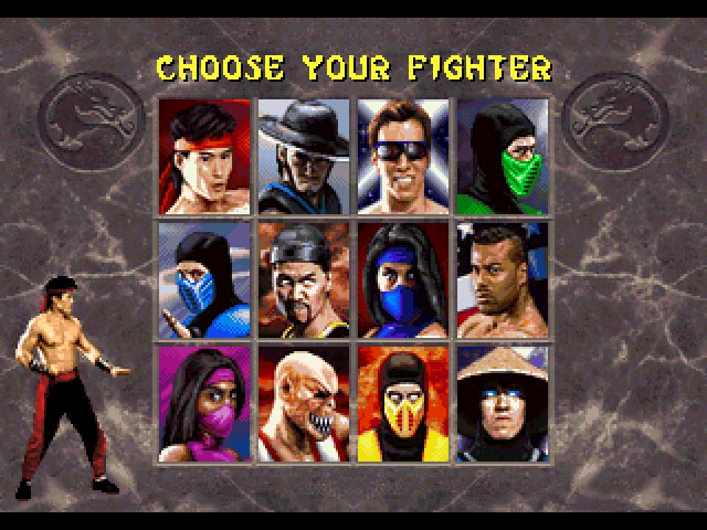 Character Select - 32X Emulation