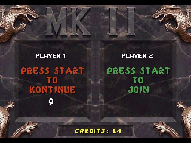 Continue Screen - 32X Emulation