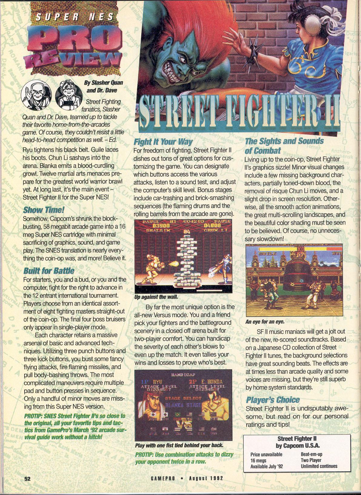 Street Fighter II Coverage 1992-1993   www gamepilgrimage com