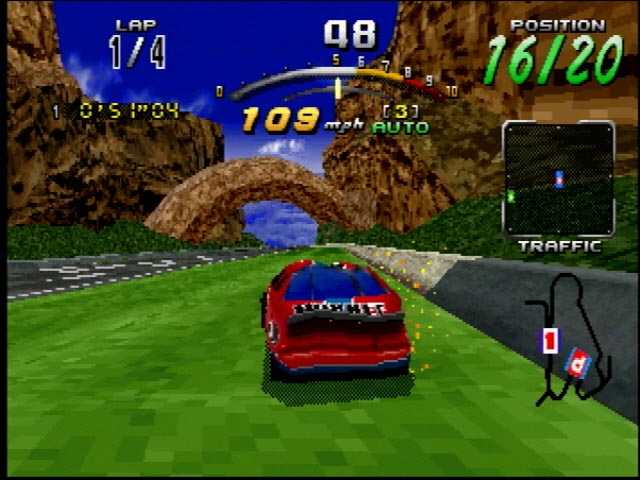 You can smash your car to bits in Daytona USA, which was pretty neat for the time frame